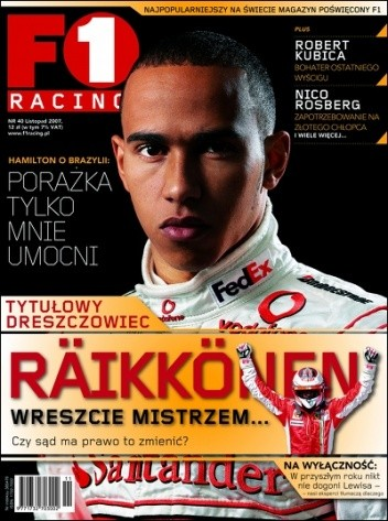 Okładka książki F1 racing nr 40