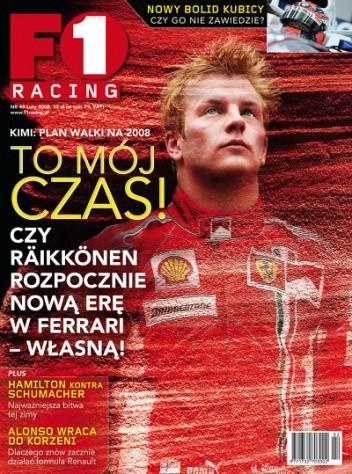 Okładka książki F1 Racing nr 2/2008
