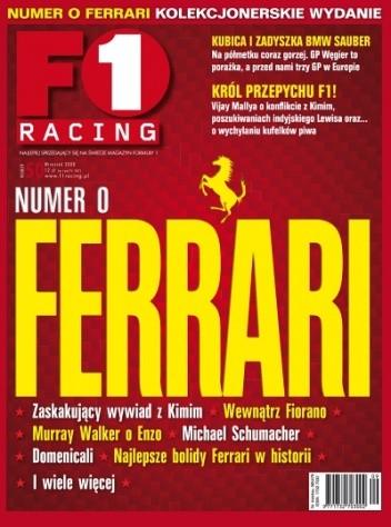 Okładka książki F1 Racing nr 9/2008