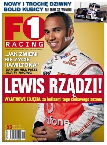 Okładka książki F1 Racing nr 12/2008