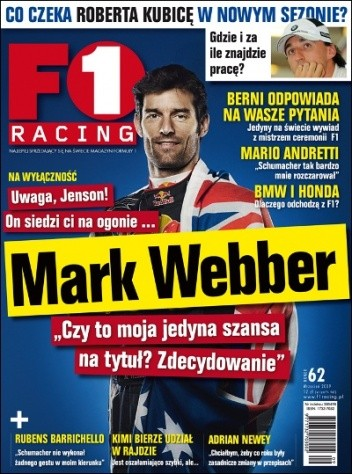 Okładka książki F1 Racing nr 9/2009