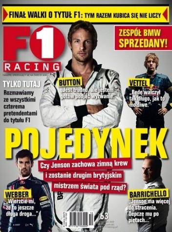 Okładka książki F1 racing nr 63
