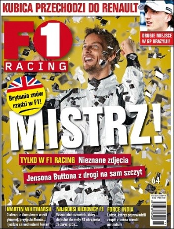 Okładka książki F1 Racing nr 11/2009