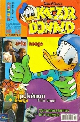 Okładka książki Kaczor Donald 14/2001