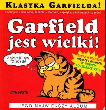Okładka książki Garfield jest wielki!