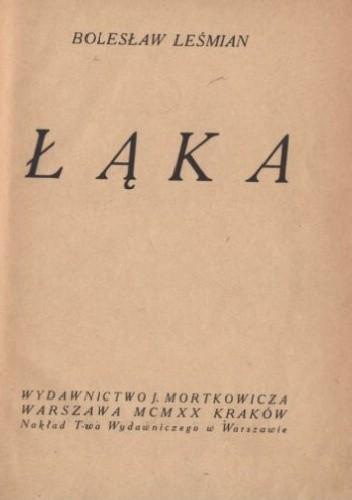 Okładka książki Łąka