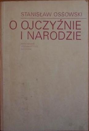 Okładka książki O ojczyźnie i narodzie