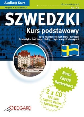 Okładka książki Szwedzki. Kurs podstawowy. 1700 najważniejszych słów i zwrotów. Gramatyka, ćwiczenia, dialogi, zapis wszystkich nagrań