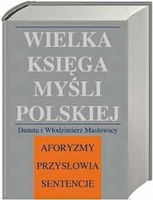 Okładka książki Wielka księga myśli polskiej
