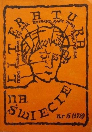 Okładka książki Literatura na świecie 5/1986 (178)