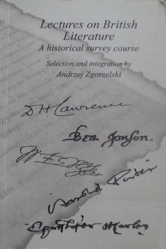 Okładka książki Lectures on British Literature: A Historical Survey Course