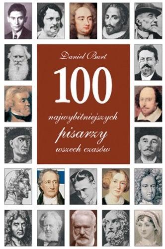 Okładka książki 100 najwybitniejszych pisarzy wszech czasów
