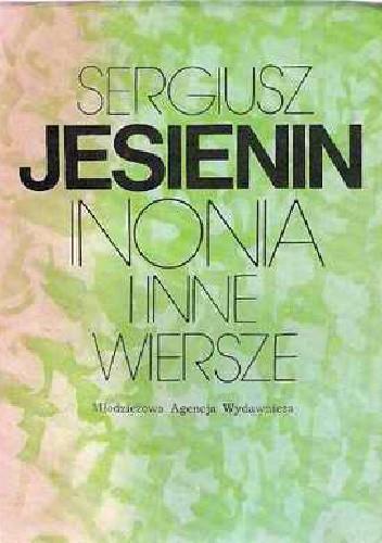 Okładka książki Inonia i inne wiersze