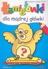 Okładka książki łamigłówki dla mądrej główki cz. 3