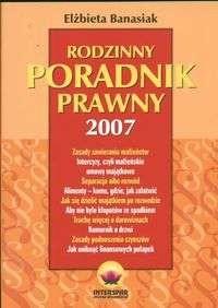 Okładka książki Rodzinny poradnik prawny 2007
