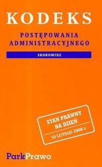 Okładka książki Kodeks postepowania administracyjnego