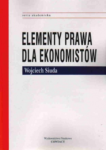 Okładka książki Elementy prawa dla ekonomistów