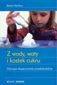 Okładka książki z wody, waty i kostek cukru
