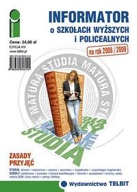 Okładka książki Informator o szkołach wyższych i policealnych 2008/2009