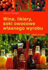 Okładka książki Wina, likiery, soki owocowe własnego wyrobu