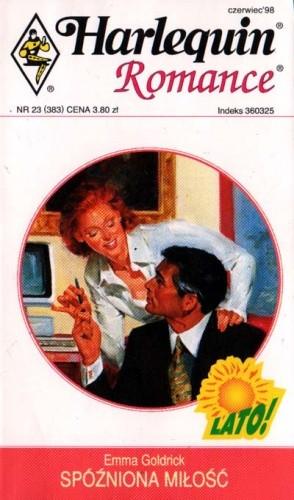 Okładka książki Spóźniona miłość