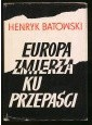 Okładka książki Europa zmierza ku przepaści