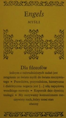 Okładka książki Myśli. Fryderyk Engels