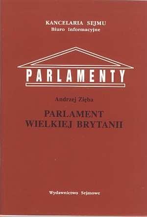 Okładka książki Parlament Wielkiej Brytanii