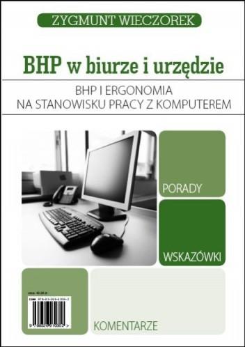 Okładka książki Bhp i ergonomia na stanowisku pracy z komputerem