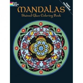 Okładka książki Mandalas Stained Glass Coloring Book