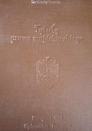 Okładka książki Tytuły prawa majdeburskiego