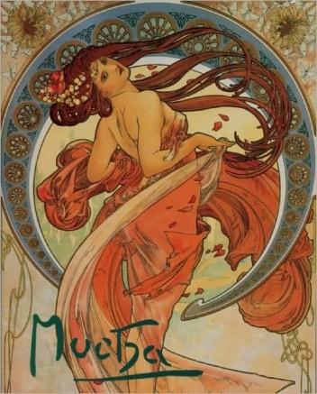 Okładka książki Alphonse Mucha