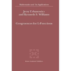 Okładka książki Congruences for L-Functions