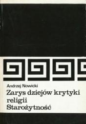 Okładka książki Zarys dziejów krytyki religii- Starożytność