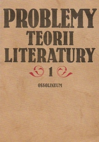 Okładka książki Problemy teorii literatury