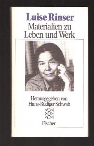 Okładka książki Luise Rinser. Meterialien zu Leben und Werk