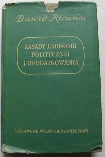 Okładka książki Zasady ekonomii politycznej i opodatkowania