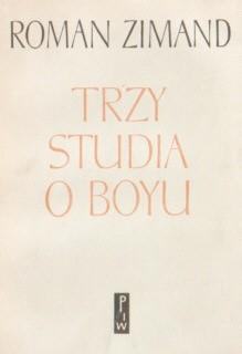 Okładka książki Trzy studia o Boyu
