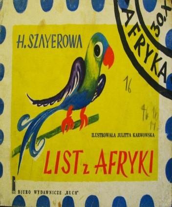 Okładka książki List z Afryki
