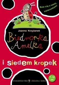 Okładka książki Biedronka Amelka i siedem kropek