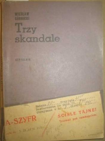 Okładka książki Trzy skandale