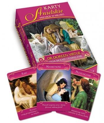 Okładka książki Anielskie wsparcie w miłości - karty + książka