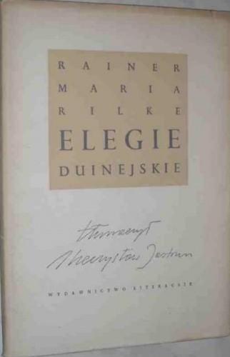 Okładka książki Elegie duinejskie