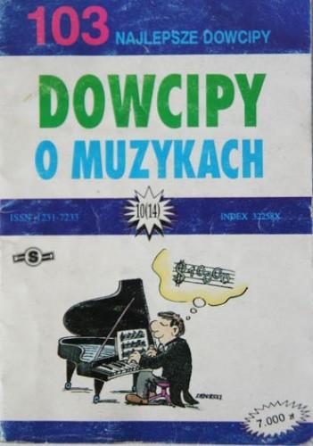 Okładka książki Dowcipy o muzykach. 103 najlepsze dowcipy