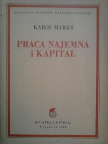 Okładka książki Praca najemna i kapitał