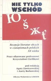 Okładka książki Nie tylko Wschód. Recepcja literatur obcych w czasopismach polskich XX wieku