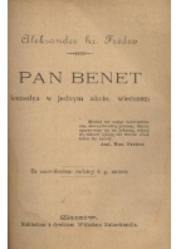Okładka książki Pan Benet
