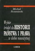 Okładka książki Wybór źródeł do historii państwa i prawa w dobie nowożytnej