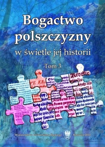 Okładka książki Bogactwo polszczyzny w świetle jej historii. Tom 3