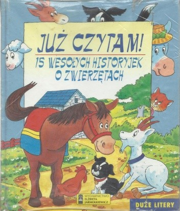 Okładka książki 15 wesołych historyjek o zwierzętach